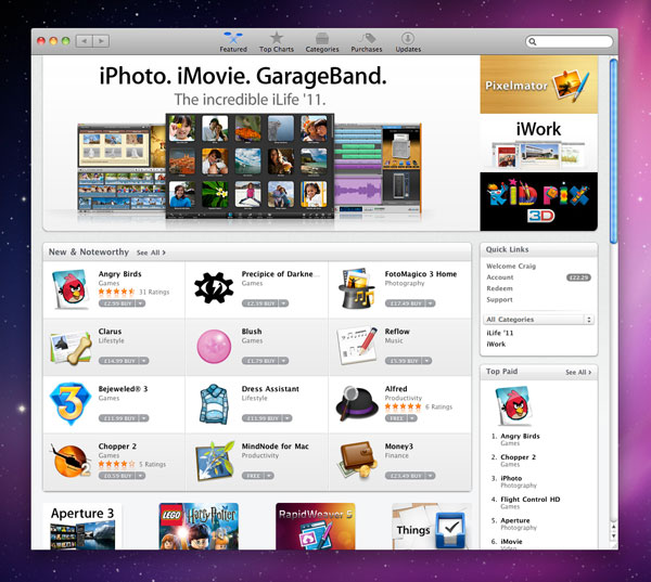 Mac App Store Ui Is So Hideous That It Makes Me Want To Kick A Swan Revert To Saved A Blog About Design Gaming And Technology