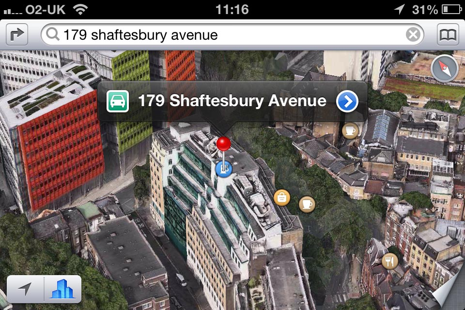 iOS 6 Maps Flyover shot