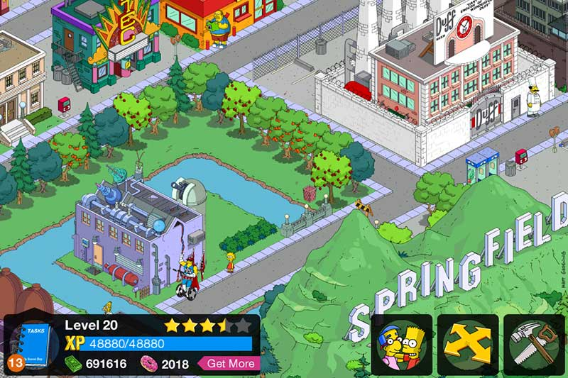 Simpsons: Tapped Out iOS game